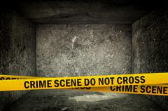 crime scene do not cross - stock illustration