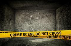 Stock Illustration of crime scene do not cross