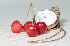 "Stock Photo of cherry ""kaiser franz"""