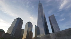 NYC 4K 0911 memorial tilt  One World Trade Center 25P - stock footage