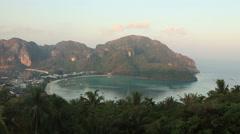 Phi Phi Sunrise Panorama Stock Footage