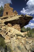 Painted hand pueblo at canyon of the ancients national monument Stock Photos