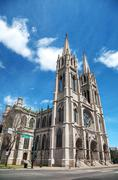 the cathedral basilica of the immaculate conception in denver, colorado - stock photo