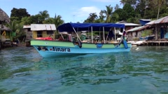 Bocas Del Toro Panama view from a boat - stock footage