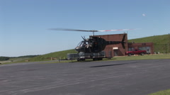 Military helicopters taking off Stock Footage