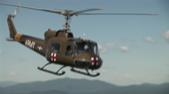 Medivac flying high Stock Footage