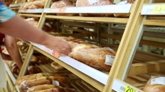 Buying Bakery Products Stock Footage