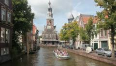 Alkmaar Tourboat Stock Footage