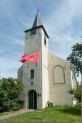 Church of feerwerd Stock Photos