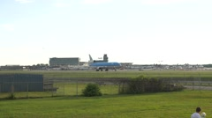 4K KLM MD-11 Airliners Taking Off Aviation Stock Footage