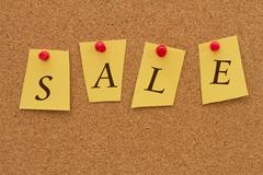 Sale announcement Stock Photos
