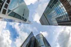 Stock Photo of modern office buildings hong kong