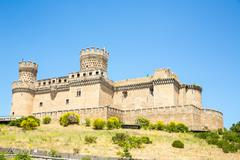 Castle of mendoza Stock Photos