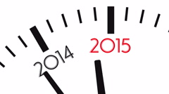 4K video of clock countdown from year 2014 to 2015 Stock Footage