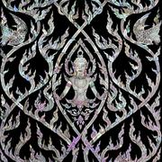 thai art with mother of pearl inlay - stock photo