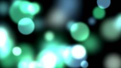 Dots Green Blur on Black Background Stock Footage
