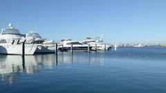 Time Lapse of Yachts Berthed at Fremantle Fishing Harbour Stock Footage