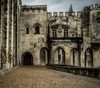 palais des papes in avignon, france - stock photo