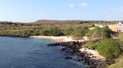 Playa mann san cristobal, Galapagos Islands, Ecuador Stock Footage