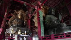Great Buddha, Todai-ji temple, Nara-koen park, Nara, Japan, Asia 2of2 Stock Footage