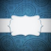 Frame in the Indian style - stock illustration