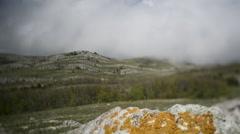 Crimea mountain cloud Stock Footage
