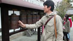 Kodai-ji temple with people, tourists, Kyoto, Japan, Asia Stock Footage