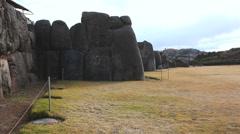 Saqsaywaman - Sacred Valley, Peru - Polished dry stone wall - stock footage