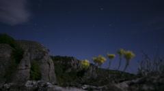 Mountain night Stock Footage