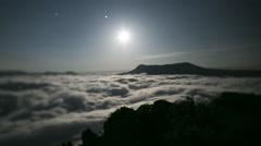 Crimea moon night Stock Footage
