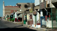 Egypt Red Sea City of Safaga 003 desolate buildings in the main street Stock Footage