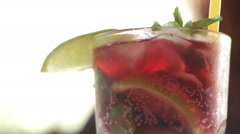 Summer cocktail Stock Footage