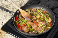 Beef stir fry Stock Photos