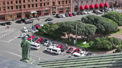 View on city square Stock Footage