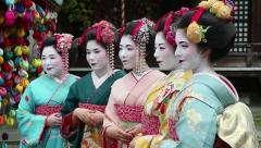 People, geishas, japanese women, Kyoto, Japan, Asia 2of3 Stock Footage