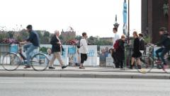 National elections in sweden 2014 - near city hall - posters Stock Footage