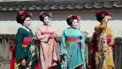 People, geishas, japanese women, Kyoto, Japan, Asia 3of3 - stock footage