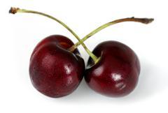 duo of cherries - stock photo