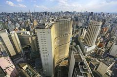 sao paulo skyline, brazil. - stock photo