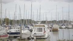 Marina Boats - stock footage