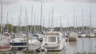 Stock Video Footage of Marina Boats