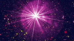 Stock Video Footage of purple light and particle flowers, loop