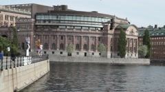 National elections in sweden 2014 - Riksdag parliament building Stock Footage