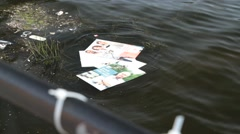 National elections in sweden 2014 - posters in water Stock Footage