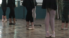 Ballet Dance Class HD Stock Footage