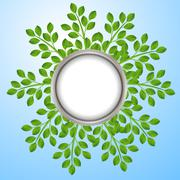 Stock Illustration of background for a design with green branches