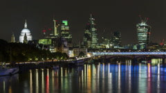 Time lapse of Financial centre of London, known as City of London - stock footage