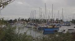 Marina Boatyard Stock Footage