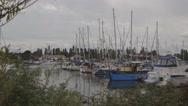 Stock Video Footage of Marina Boatyard