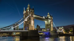 Time lapse of Tower Bridge in London Stock Footage